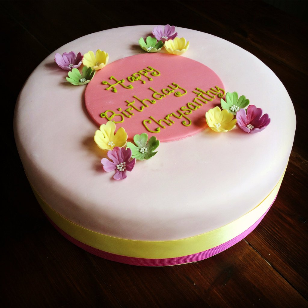 Iced Floral Celebration Cake